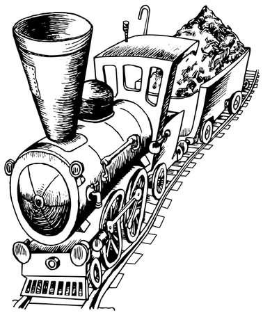 locomotora: Locomotora pesada Vectores