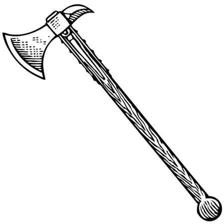 Battle axe Stock Vector - 10402423