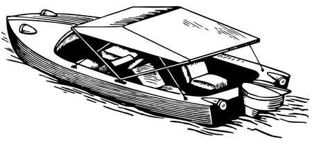 boat motor: Boat Illustration