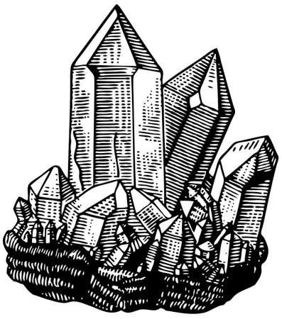 Kristal Vector Illustratie