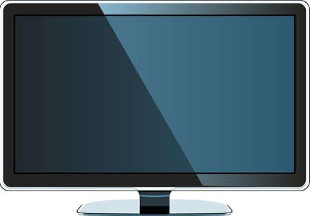 Modern LCD monitor Vector