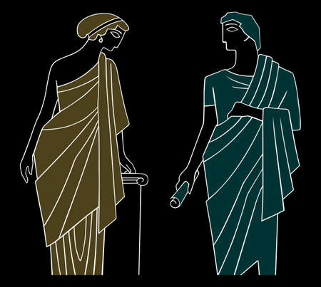 ancient: Ancient greek man and woman