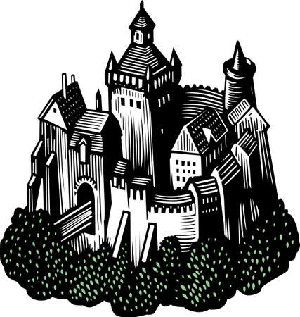 Old castle Stock Vector - 10441950