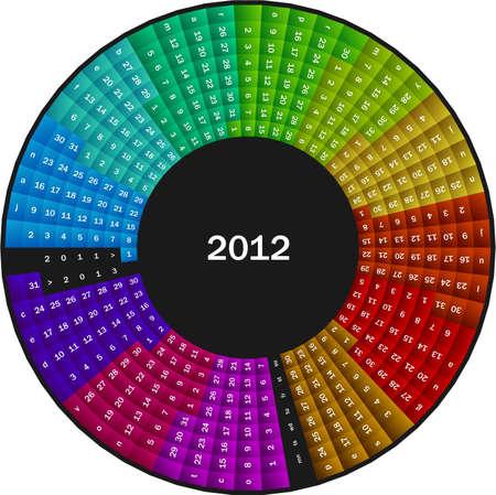 Circle calendar 2012 Stock Vector - 10441983