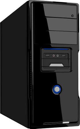 ordinateur bureau: Bo�tier de l'ordinateur