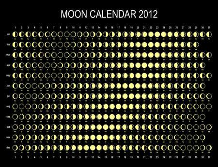 Moon calendar 2012 Vector