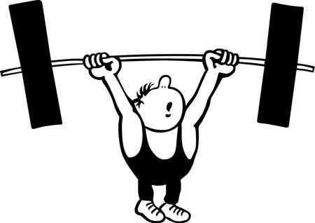 Comic El levantador de pesas