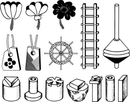 playroom: Handicraft elements Illustration