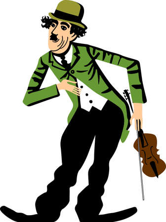 Clown and violin Stock Vector - 10534019