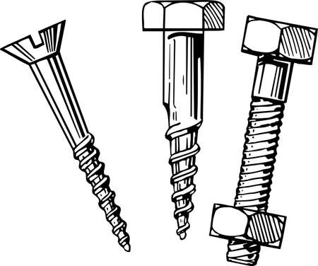 anodized: Bolts and screws