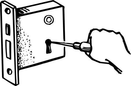 door lock: Repairing door lock