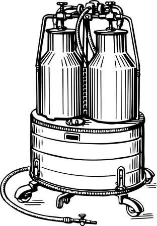 sterilized: Milk tank Illustration