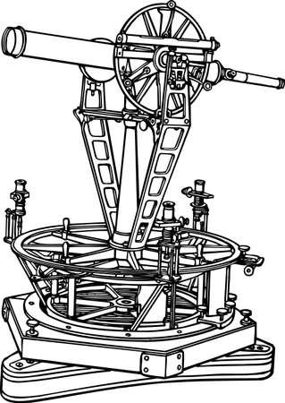 Old telescope Stock Vector - 10554132