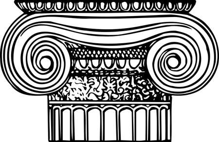 Ionic column Stock Vector - 10554125