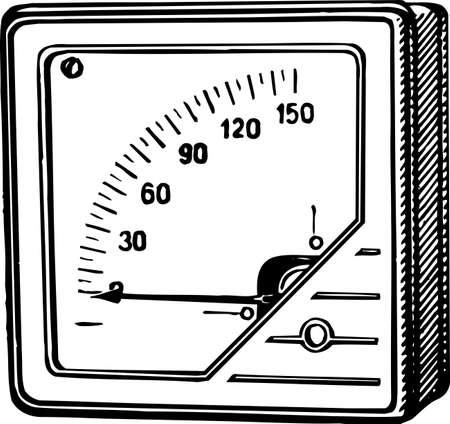 Voltage meter Stock Vector - 10554123