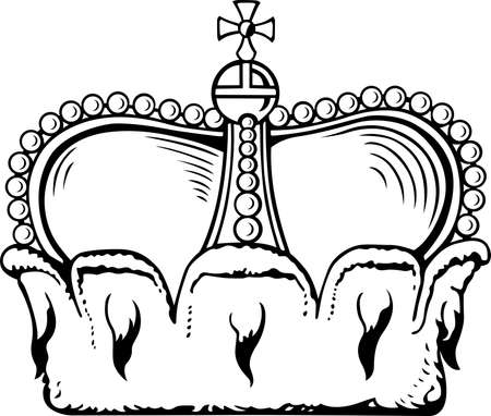 corona: Crown isolated on white background