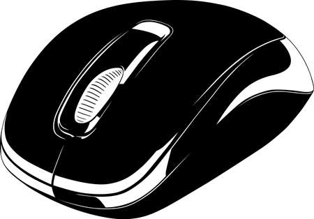 input device: Computer mouse isolated on white