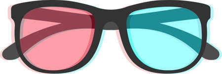 chromatic: 3D glasses with chromatic aberration isolated on white