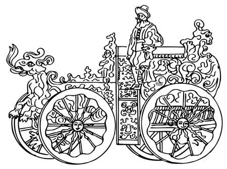 Vintage transport on white background Vector