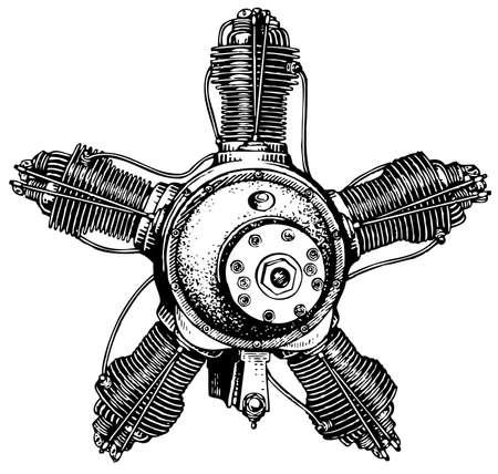 aircraft engine: Aviation engine Illustration