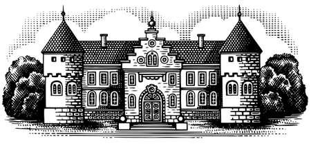 baroque gate: Estate in the park