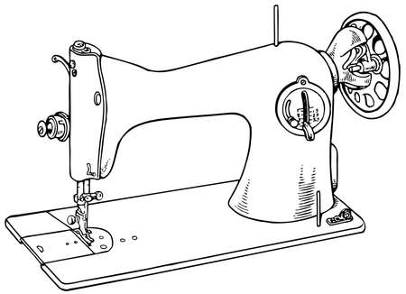 Sewing machine isolated on white background Vector