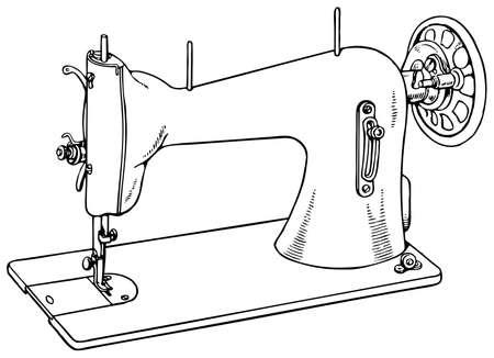 Nähmaschine isoliert auf weißem Hintergrund