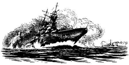 going down: Ships drowning at sea
