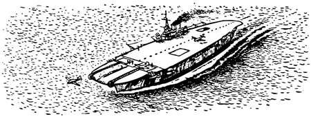transporteur: Porte-Vieux en mer