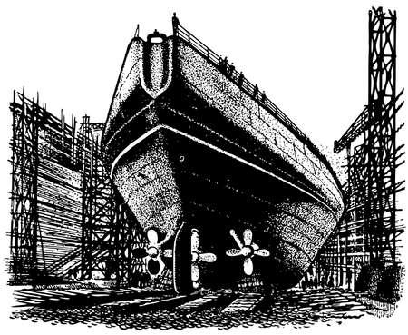 Shipyard illustration