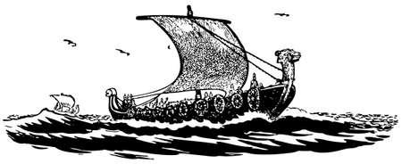 civilizations: Ancient ship at sea