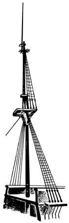 rope ladder: Ship Illustration