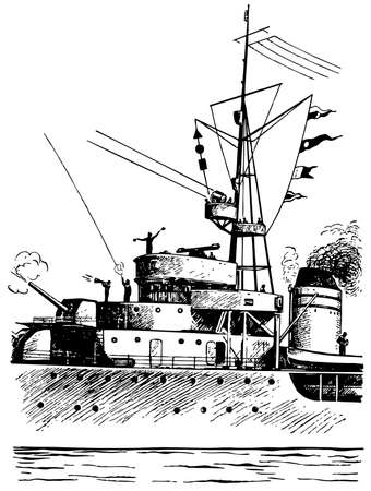 radio beams: Ship Illustration