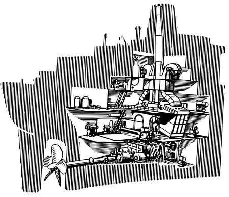 engine room: Ship Illustration