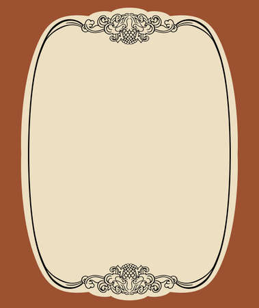 Elegance frame on brown background Vector