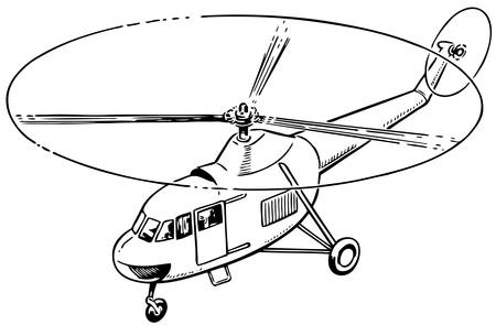helicopter: Helicopter flying