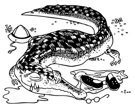 rapacity: Crocodile has eaten the man