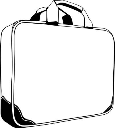 carry bags: Bag twin-handled for businessman on white background Illustration