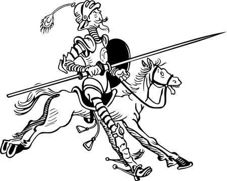Don Quixote riding horse  Vector