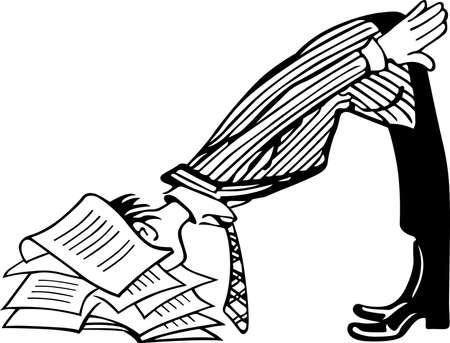 bureaucrat: Man is ready to drop on paper