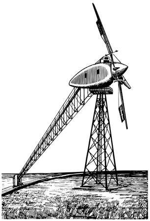 발전기: Wind generator 일러스트