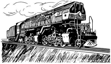 Russische stoomlocomotief Vector Illustratie