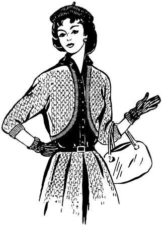 sexy image: Beautiful fashionable girl Illustration