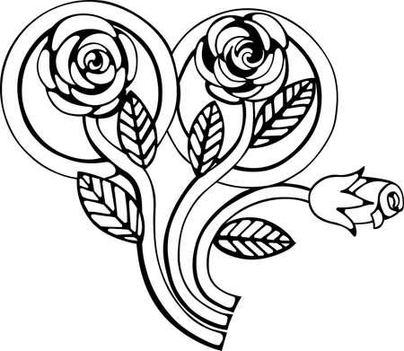 Fedi nuziali legate con ramo di rose