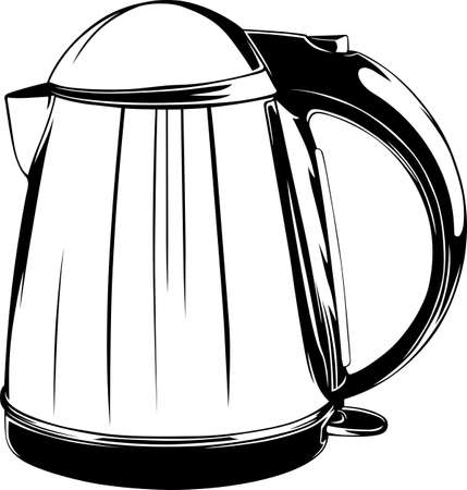 electric kettle: Electric kettle Illustration