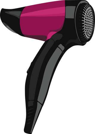 secador de pelo: Secador de pelo Vectores