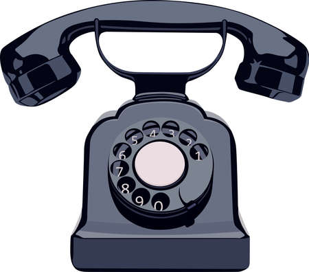 antique phone: Vintage phone Illustration