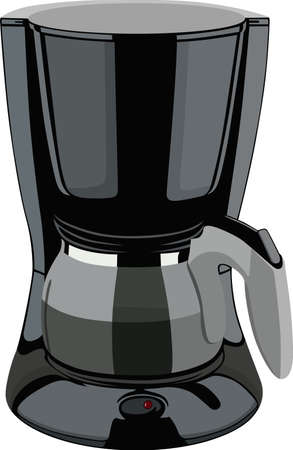 with coffee maker: Coffee maker Illustration