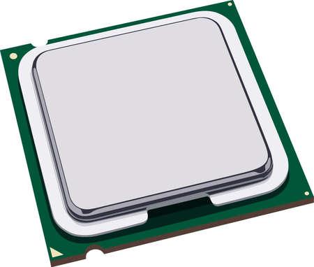 Computer processor Stock Vector - 13515143