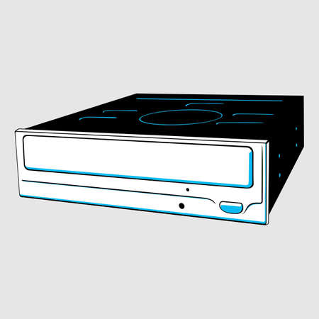 hardware tools: DVD-RW drive Illustration